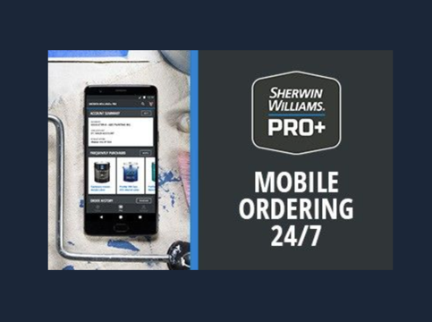 Sherwin Williams Pro Mobile Ordering 24 7 Image