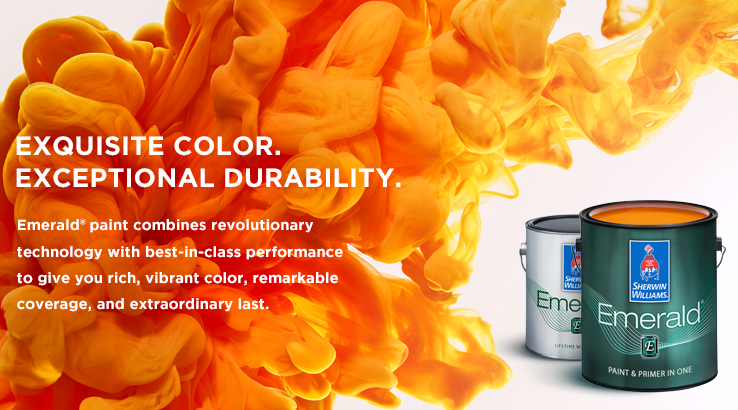 Emerald family sherwin williams for Interior trim paint calculator