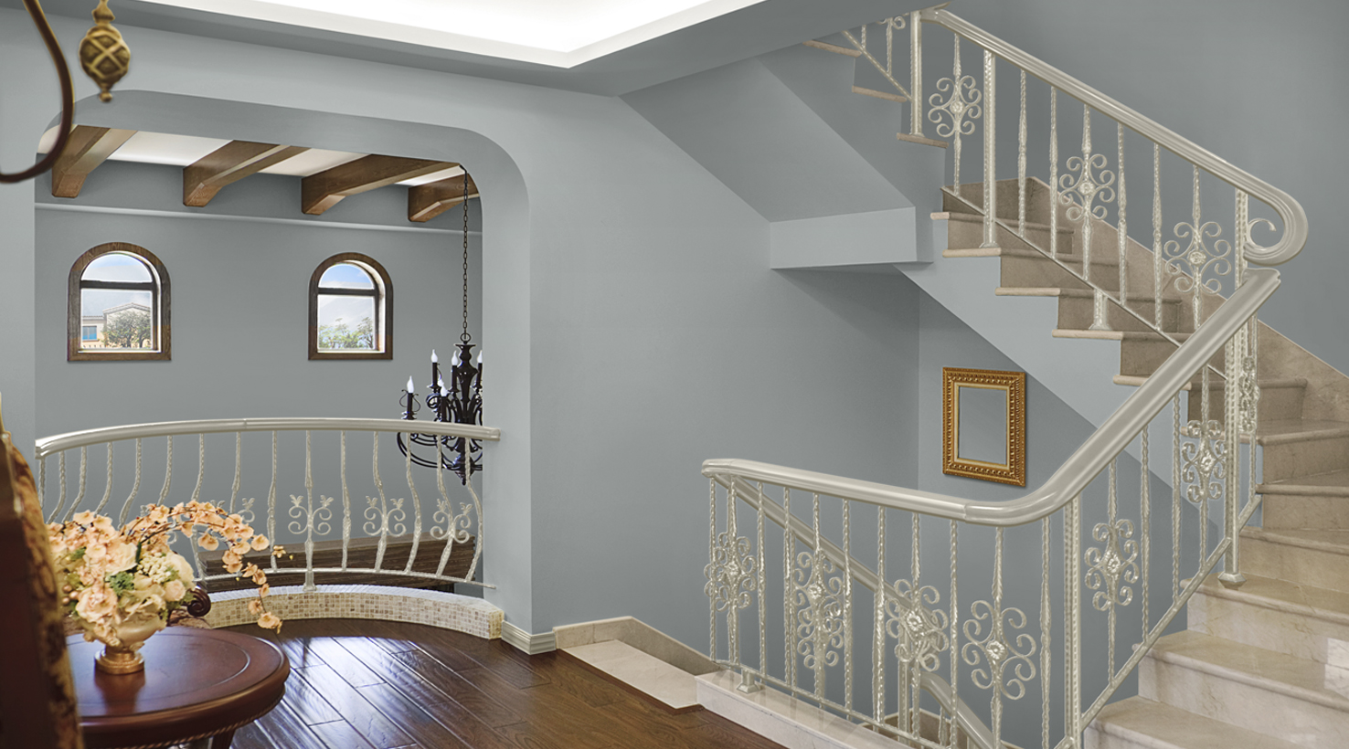 Stairway Paint Color Inspiration Gallery Sherwin Williams
