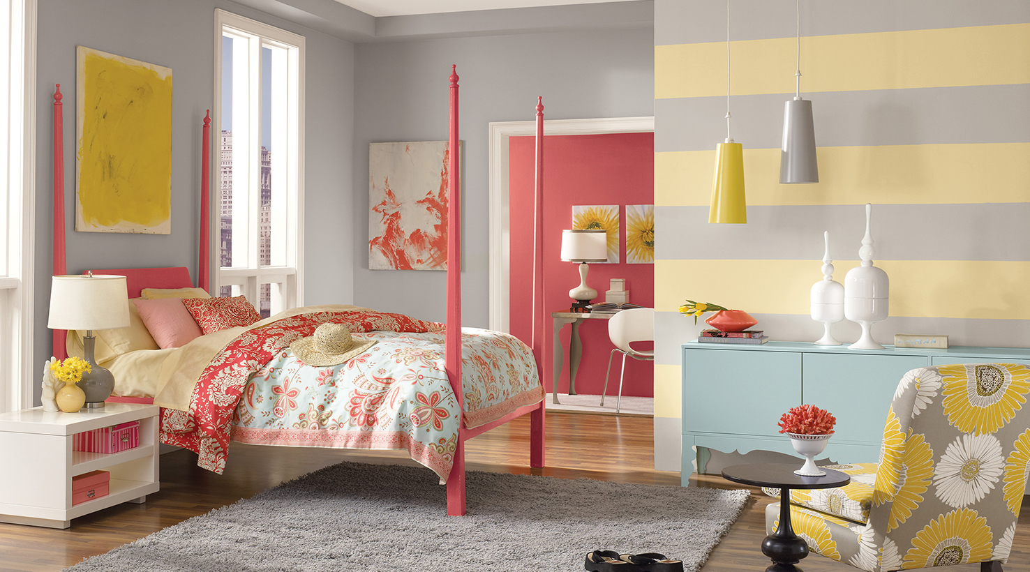 Teen room color inspiration by sherwin williams for Bedroom inspiration color palette