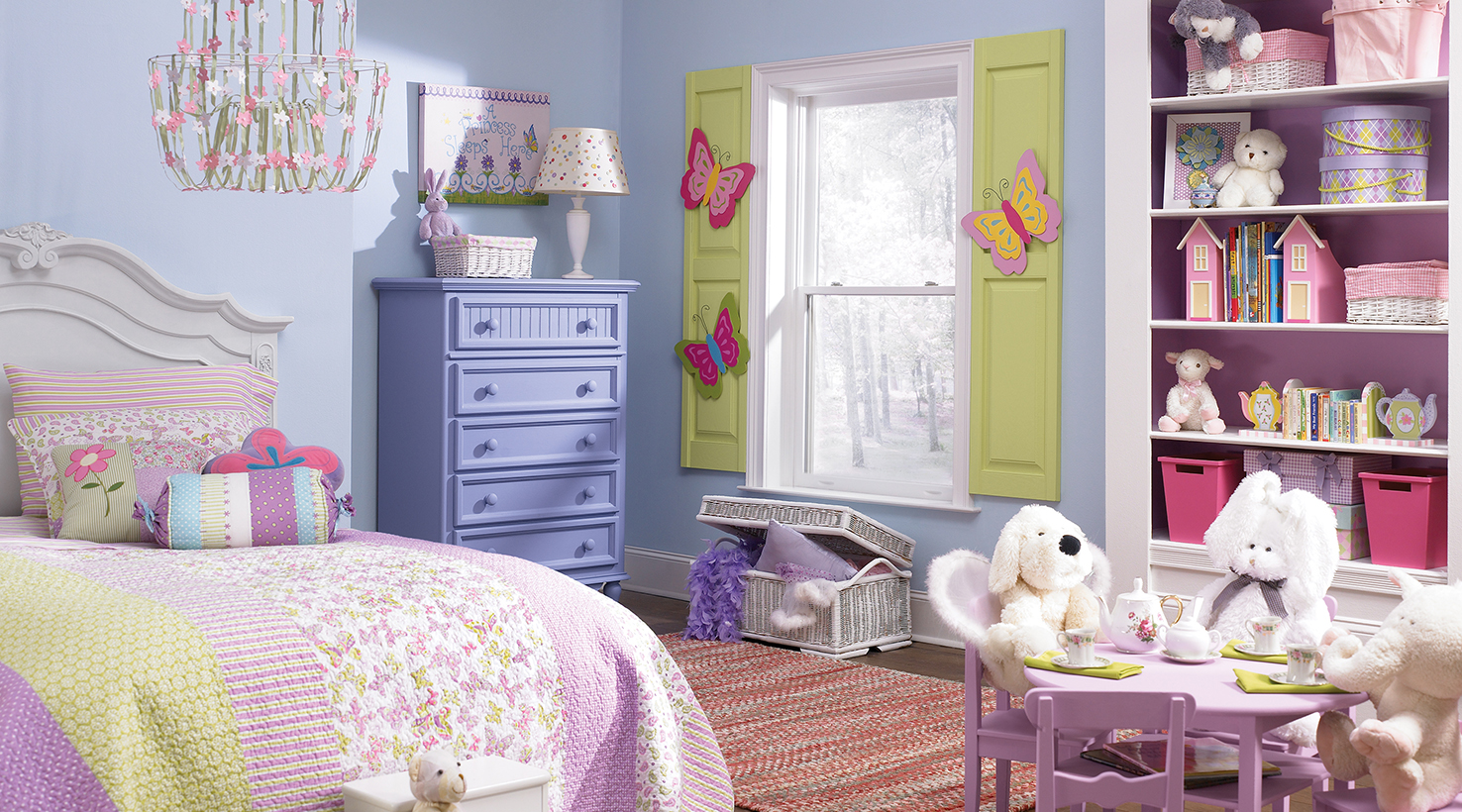 Baby toddler room paint color ideas sherwin williams - Purple and pink girls bedroom ...