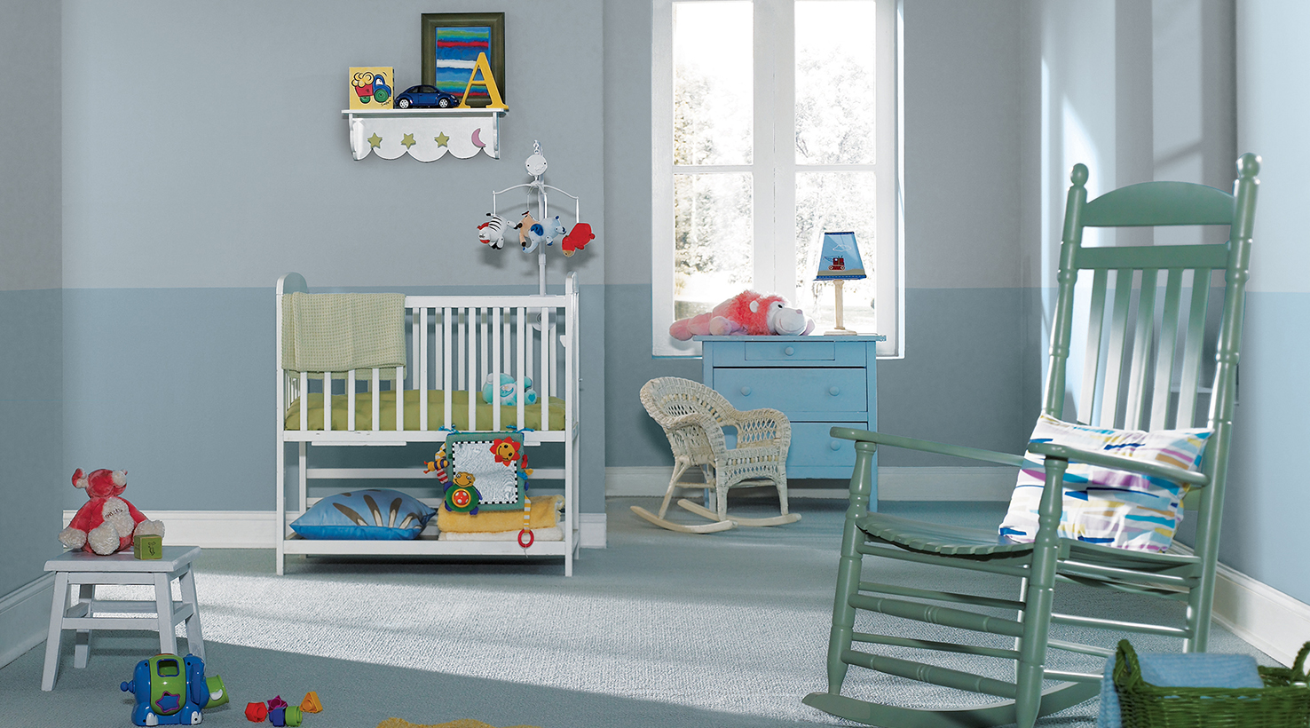 Wall Colour Inspiration: Baby & Toddler Room Paint Color Ideas