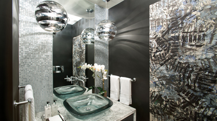 2014 hgtv urban oasis by sherwin williams for Small bathroom oasis