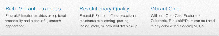 Vibrant Luxurious: Emerald® Interior Provides Exceptional Washability And A